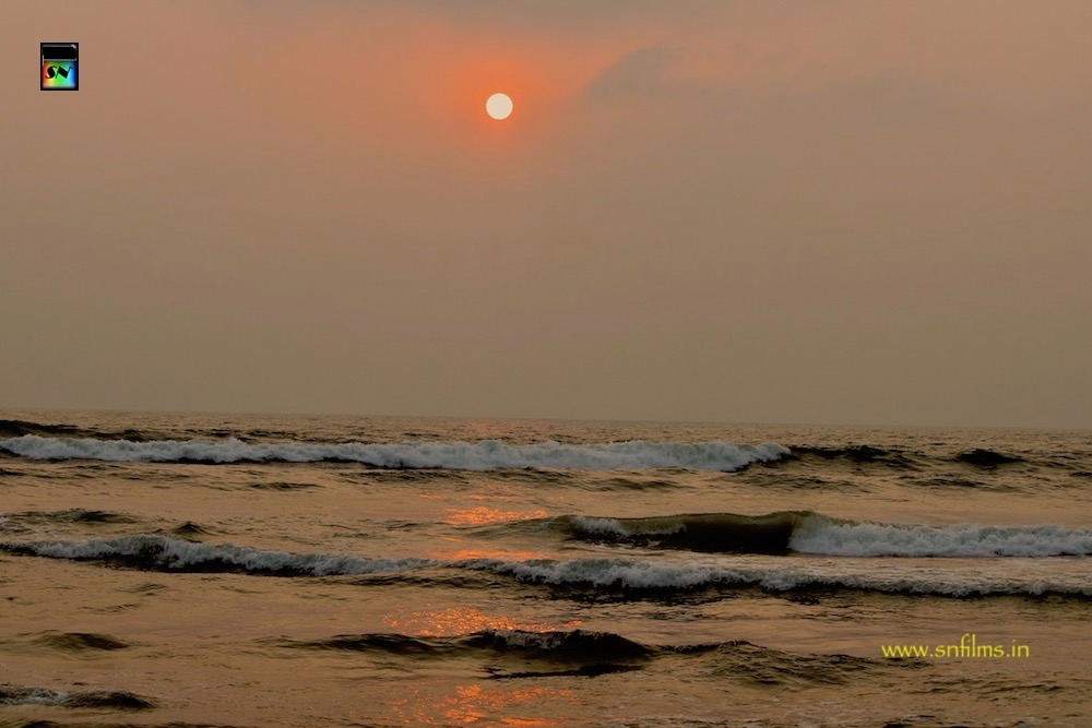 Goa sunrise at Calangute beach