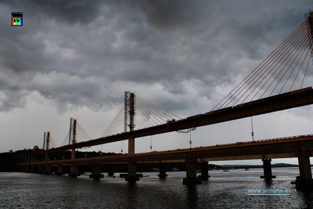Cloudy sky - Goa flyover