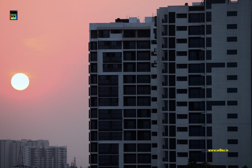 Sunset - photography - urban city - high rise apartments - sn films