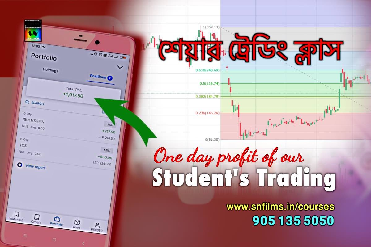 share trading - student's one day profit - snfpa