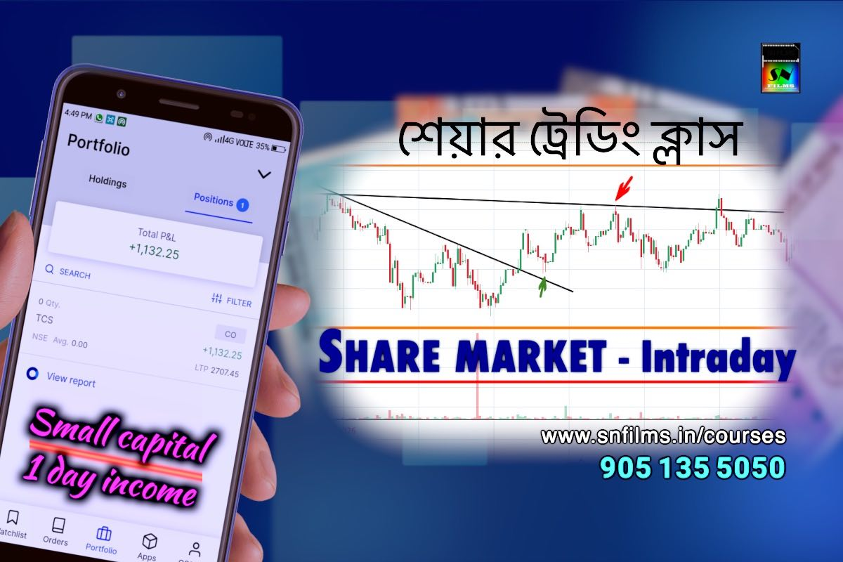 share trading - intraday - small budget deal - daily income